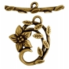 Toggle - Jasmine Star 18mm Antique Brass